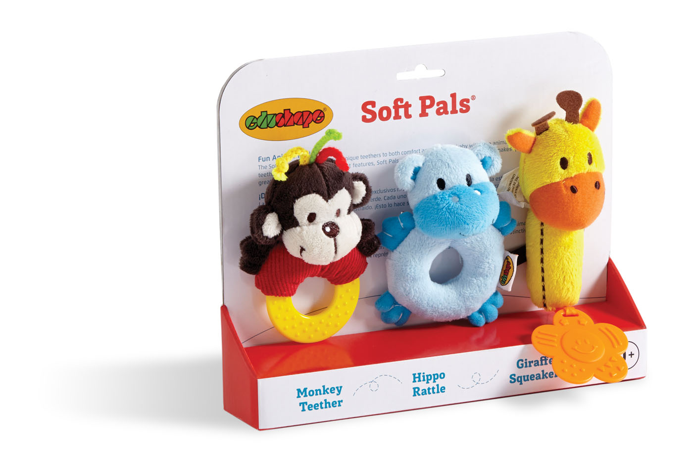 Soft Pals – Teether, Rattle, Squeaker