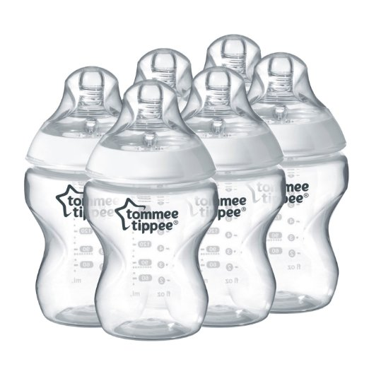 Tommee Tippee Closer To Nature Σετ Πλαστικά Μπιμπερό 6 Τεμαχίων 260 ml – BPA Free