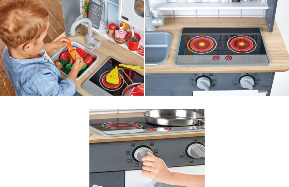 Hape Ξύλινη Κουζίνα Light & Sound_2