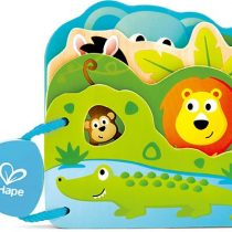 Hape Early Explorer Ξύλινο Βιβλιαράκι Baby's Wild Animal_1