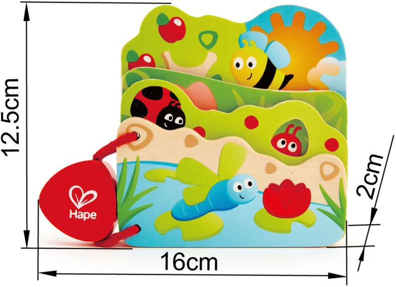 Hape Early Explorer Ξύλινο Baby's Bug Βιβλιαράκι_3