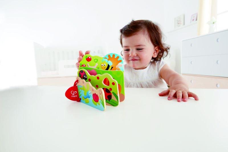 Hape Early Explorer Ξύλινο Baby's Bug Βιβλιαράκι_4