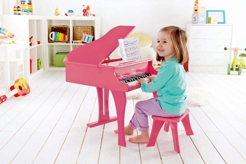 Hape Early Melodies Ξύλινο Πιάνο 30 Κλειδιά-Pink_2