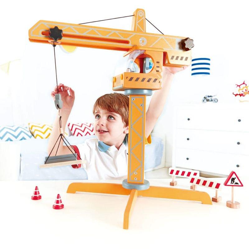 Hape Playscapes Ξύλινος Γερανός Crane Lift_3
