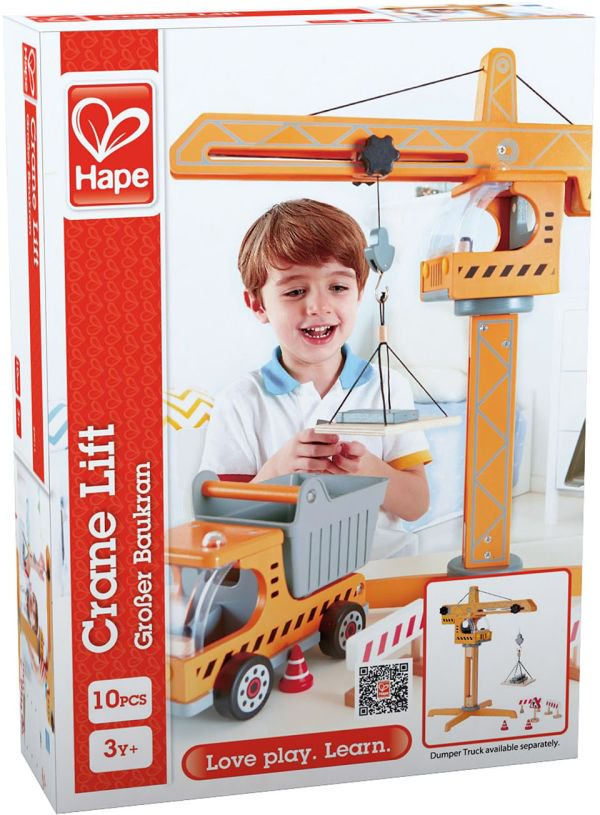 Hape Playscapes Ξύλινος Γερανός Crane Lift_4