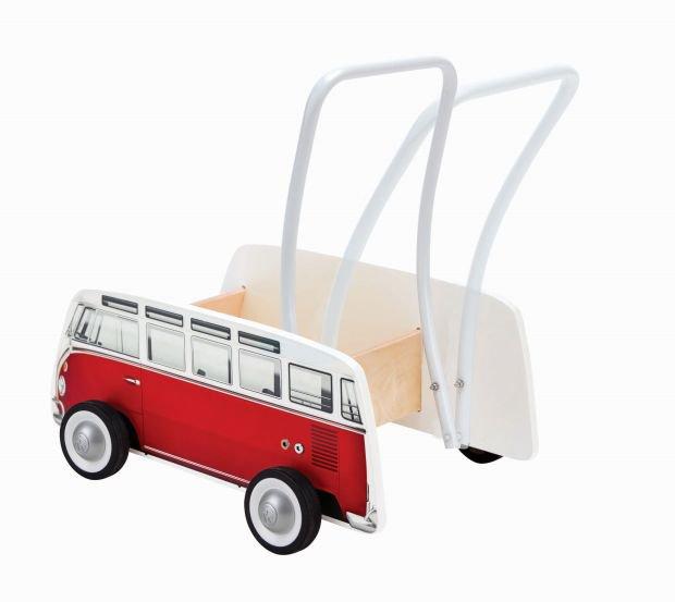 Hape Push & Pull Ξύλινη Στράτα Classical Bus_3