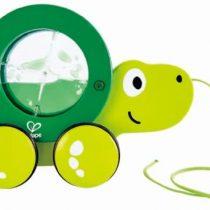 Hape Push & Pull Ξύλινη Συρόμενη Χελώνα Tito_1
