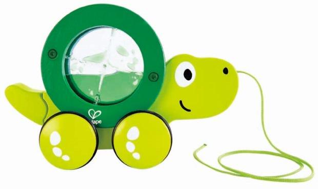 Hape Push & Pull Ξύλινη Συρόμενη Χελώνα Tito
