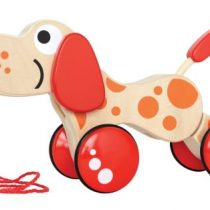 Hape Push & Pull Ξύλινο Συρόμενο Σκυλάκι Walk-A-Long Puppy_1
