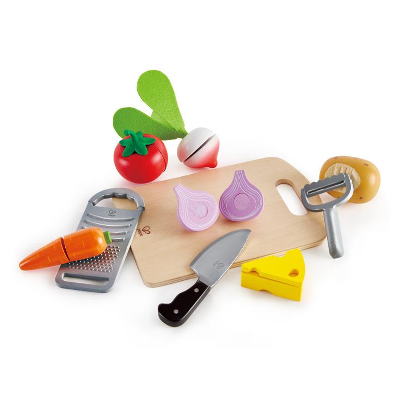 Hape Ξύλινα Λαχανικά και Εργαλεία Κουζίνας