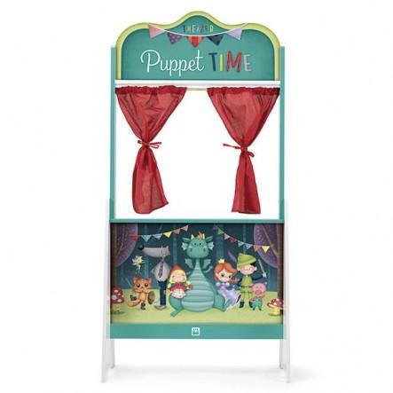 Ξύλινη Σκηνή Κουκλοθεάτρου Puppet Time 135Cm