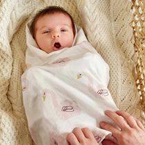 mouslin Lassig-Heavenly-Soft-Swaddle-L---Little-Water-Swan---3-Pack