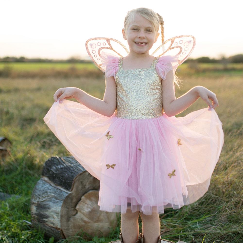 Στολή Πεταλούδα με Χρυσά Φτέρα 4-6 Χρονών