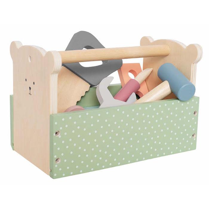 Ξύλινο βαλιτσάκι με εργαλεία Teddy