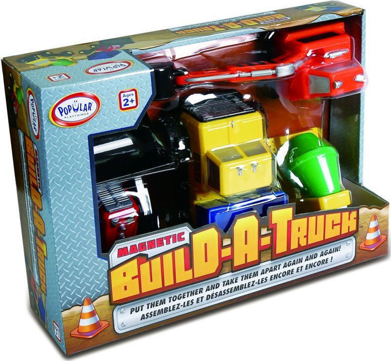 """Μαγνητικά Οχήματα Οικοδομής """"Build – A – Construction Truck"""""""