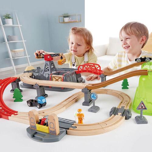 Railway Ξύλινος Σιδηρόδρομος Builder Set